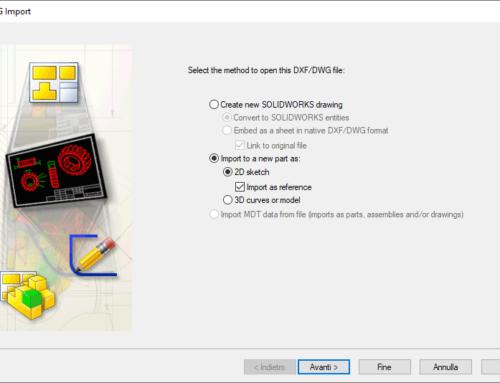 Come creare schizzi di riferimento SOLIDWORKS da file 2D DXF/DWG